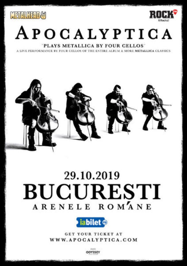 Apocalyptica plays Metallica by 4 cellos la Arenele Romane!