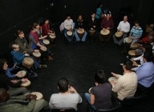 Workshop de percuţie africană la Happy Minds
