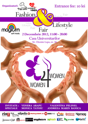 Women for Women Fashion&Lifestyle Fair, pe 2 decembrie