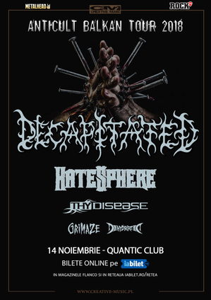 Decapitated, Hatesphere si ThyDisease pe 14 Noiembrie in QUANTIC